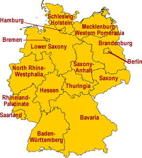 Regions Of Germany Map.Regional Specialties German Cooking German Food Guide