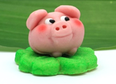 Good Luck Marzipan Pig
